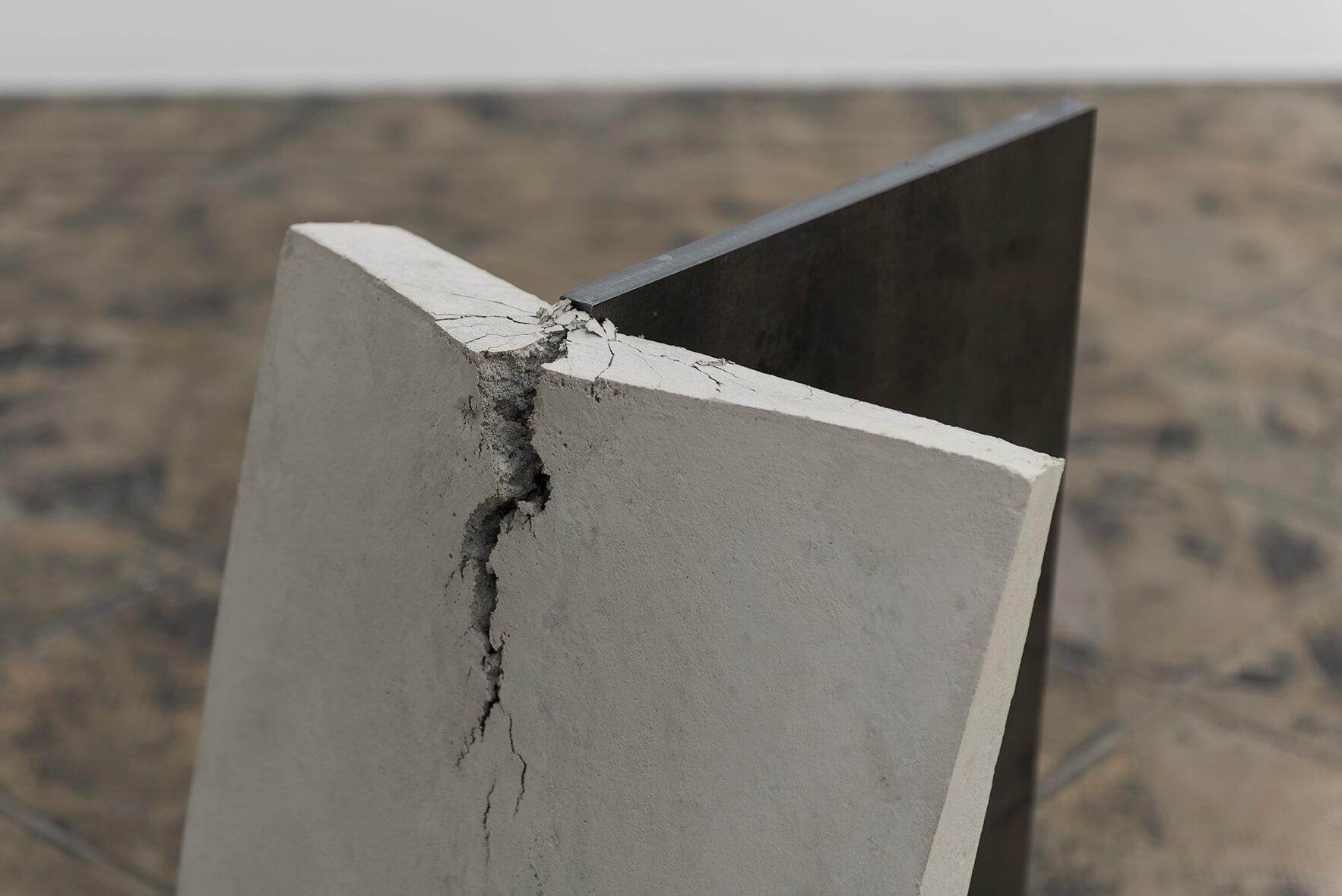 Untitled (Stahl, Beton), 2017. (Detail)   On Fold   ProjecteSD