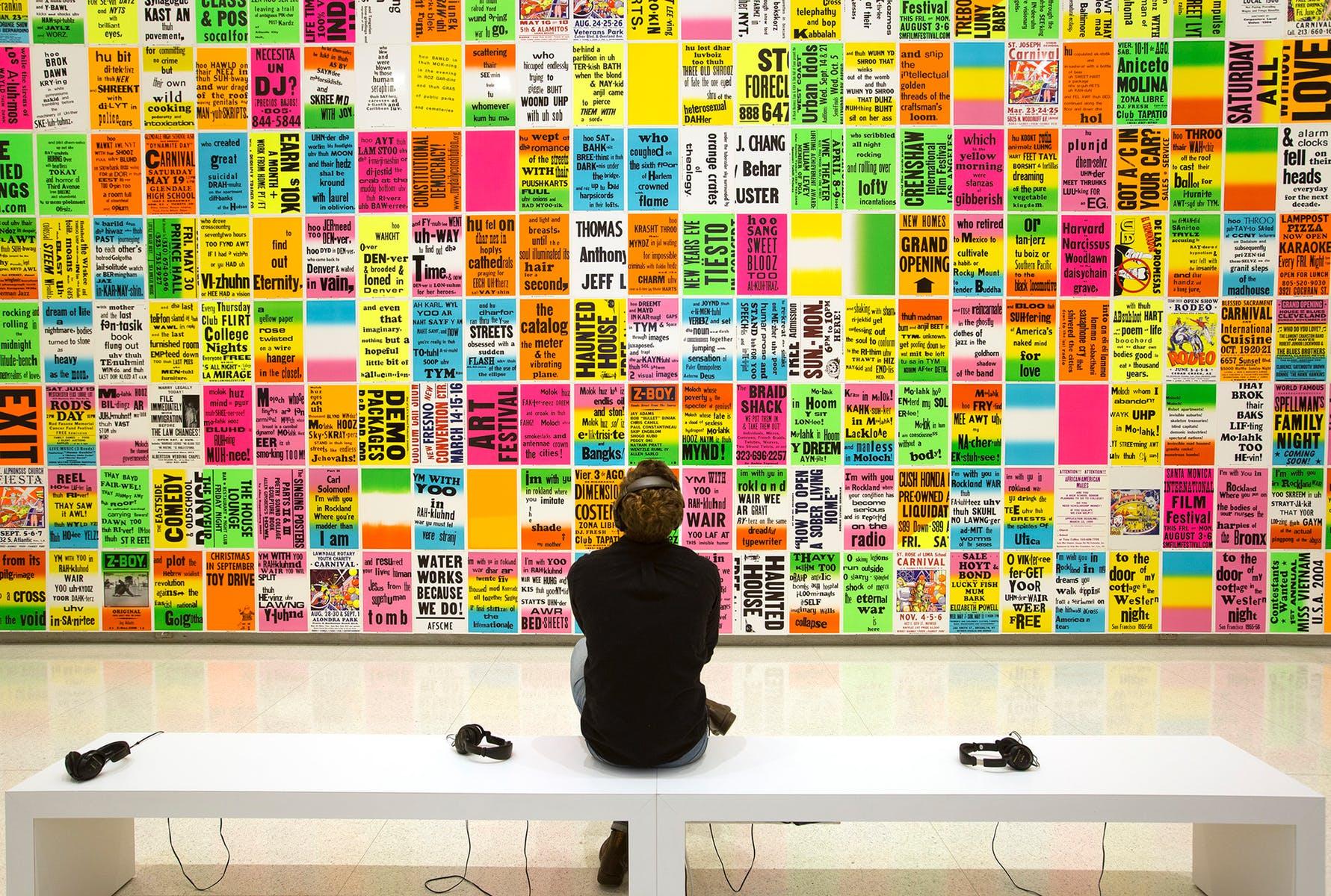 Installation view: Allen Ruppersberg: Intellectual Property 1968–2018, Walker Art Center, Minneapolis, 2018      ProjecteSD