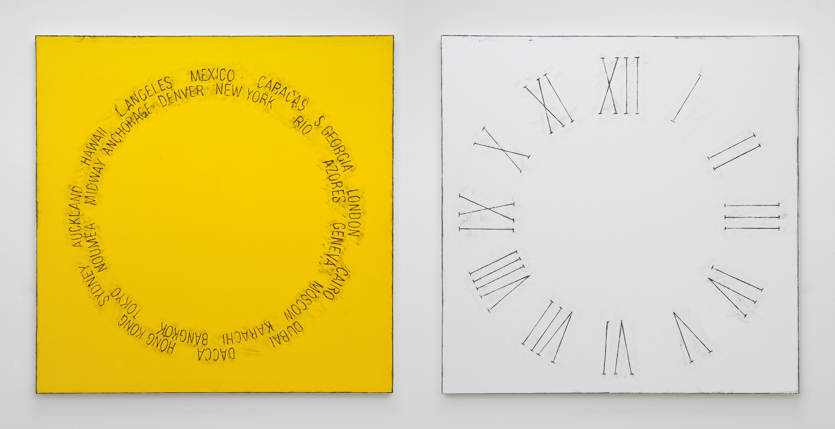 Left: Untitled (Time Zones), 2014. Right: Untitled (12 Hours), 2014 |  | ProjecteSD