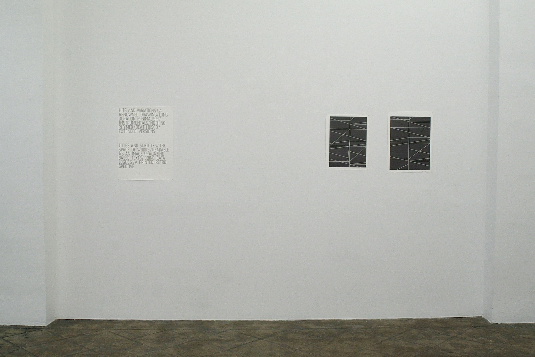Installation view: Modernist Persuasion, ProjecteSD, Barcelona, 2010 |  | ProjecteSD
