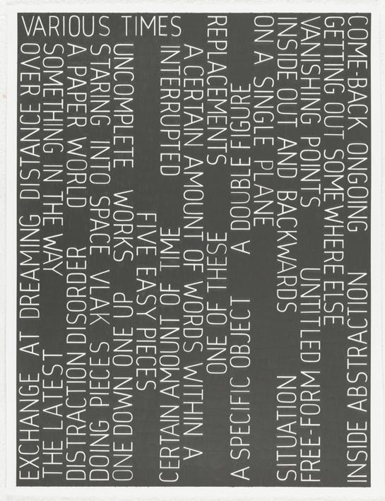 Various Times, 2008      ProjecteSD