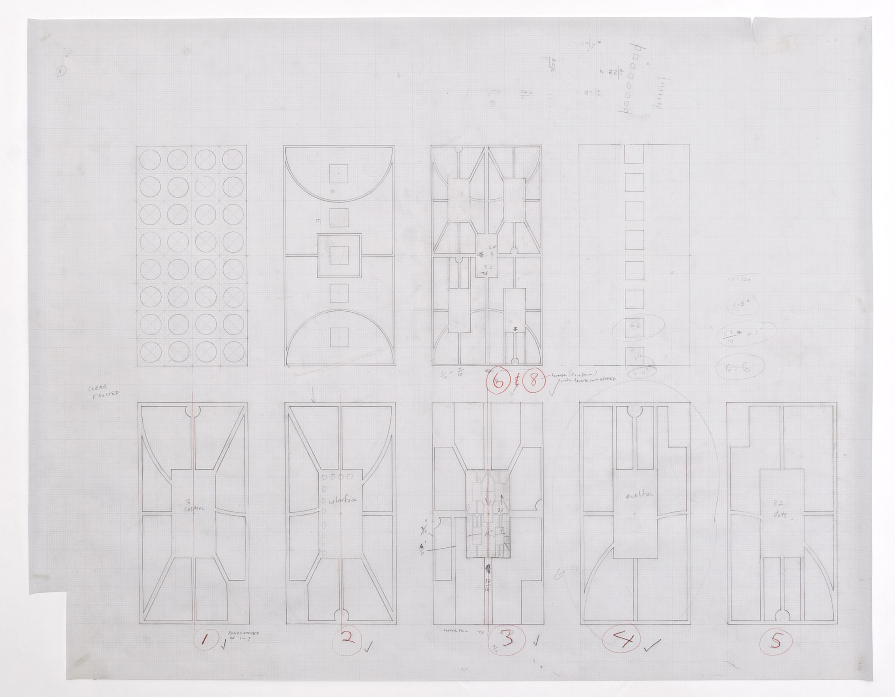 Untitled (City Charts, Sketches for Glass Pieces # 1), 1992 |  | ProjecteSD