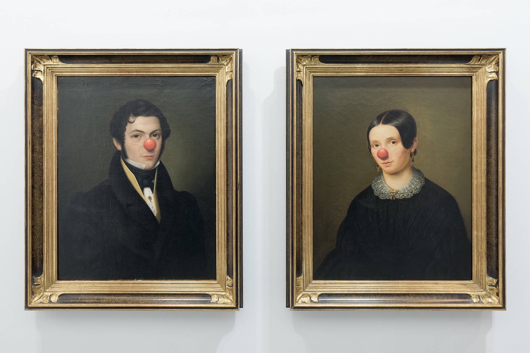 Man and Woman with red nose, 2015 |  | ProjecteSD