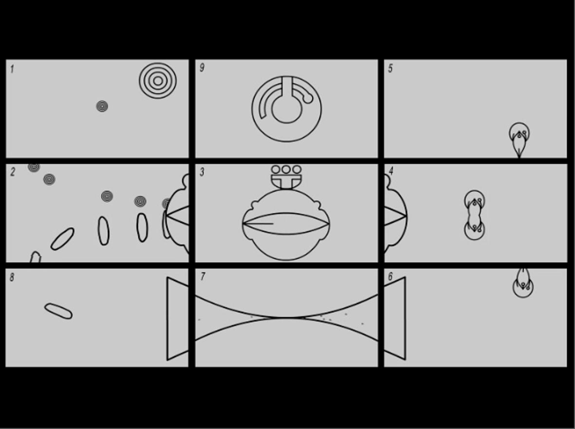 Untitled (Animated Cosmology- 9 panels), 2005 |  | ProjecteSD