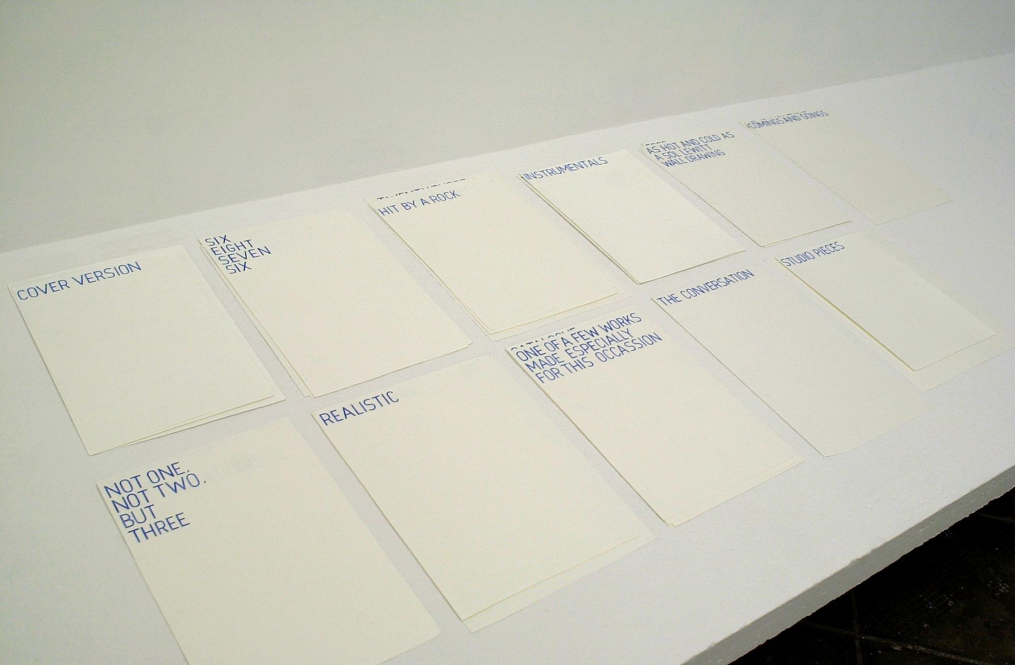 Title Track, 2007      ProjecteSD