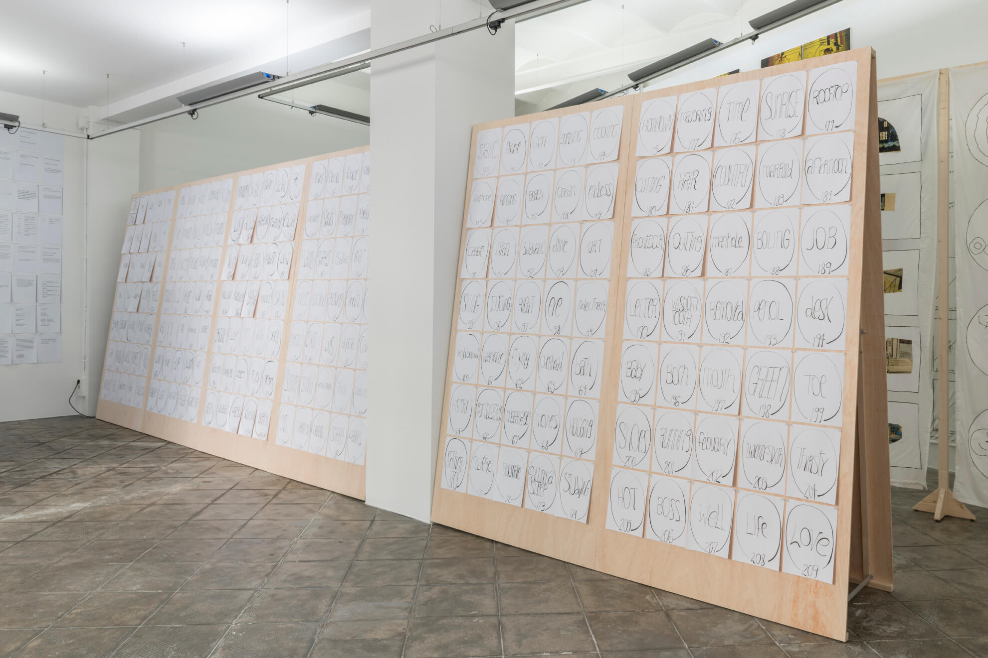 Untitled (269 words from the birth to death list), 2018   Representing The Work   ProjecteSD