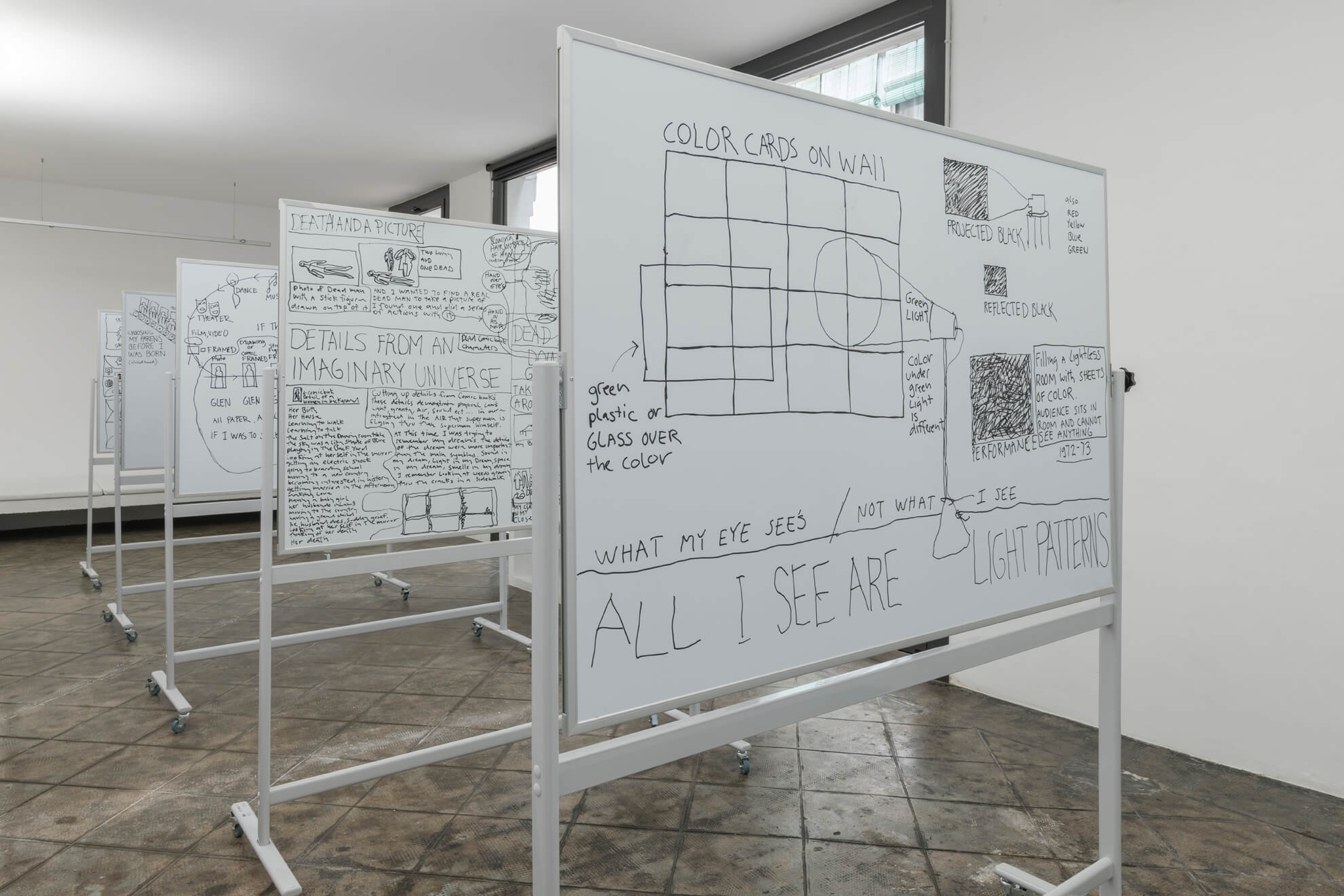 Untitled (5 Lecture Boards), 2018 | Representing The Work | ProjecteSD