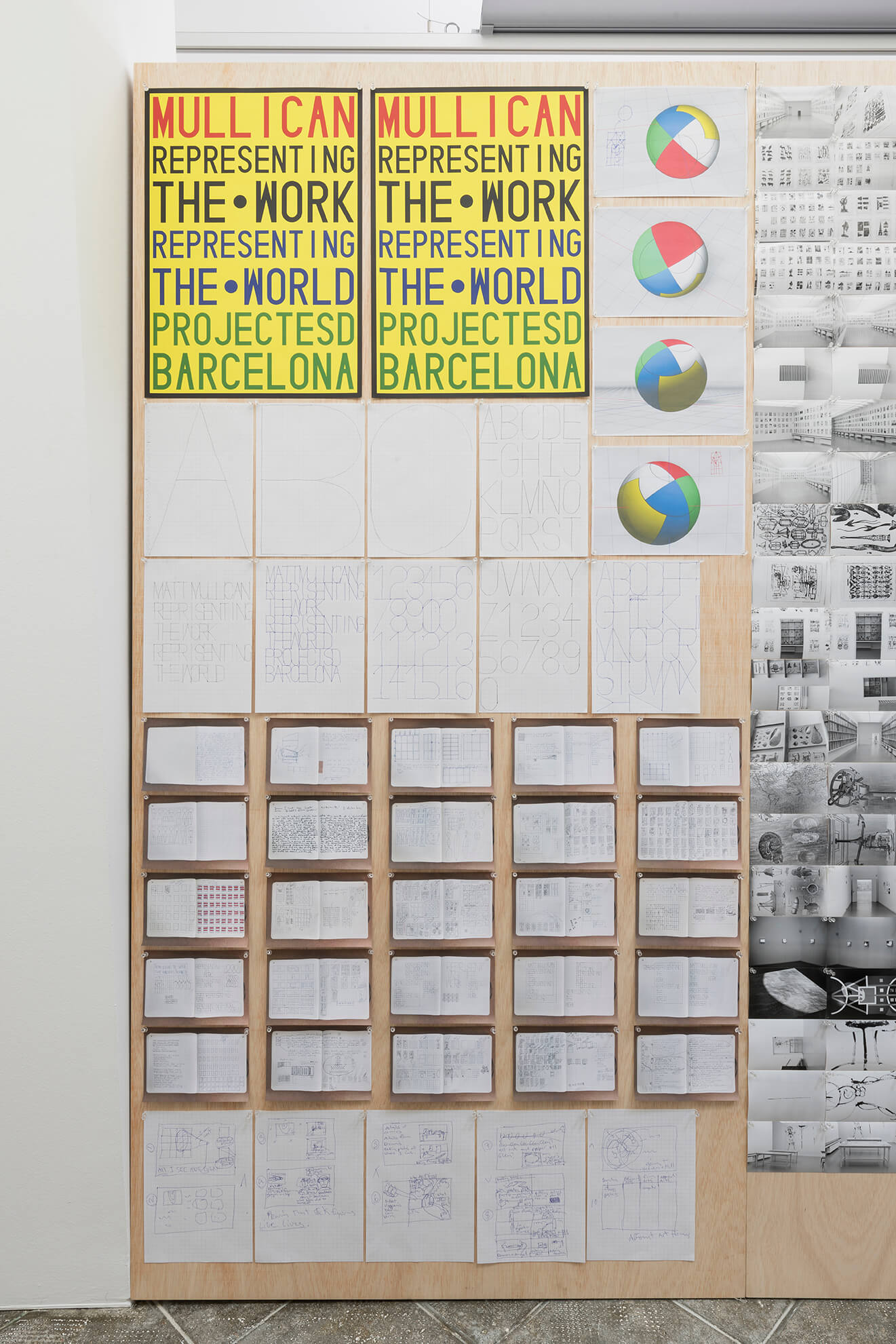 Untitled (Board for Representing the work), 2018 | Representing The Work | ProjecteSD