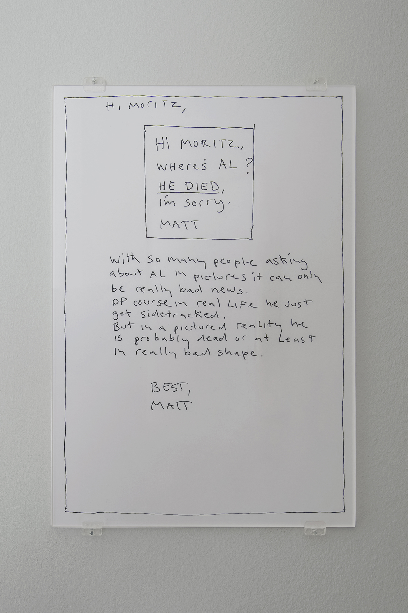 MATT MULLICAN. Al is Dead, 2013 (Detail) | The Umbrella Corner. Chapters 4 and 5 | ProjecteSD