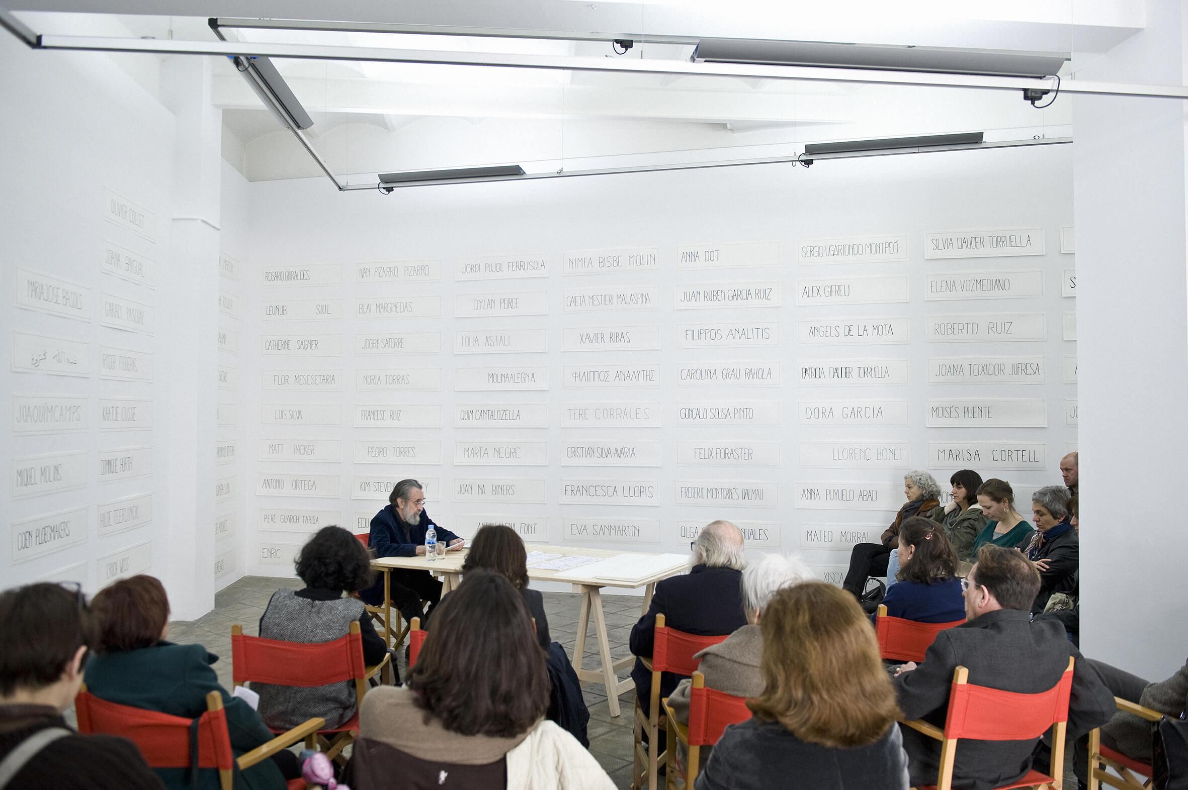 Lecture Dobleces de Autor by Isidoro Valcárcel Medina. Vostè Mateix, ProjecteSD, Barcelona, 2013 | Vostè Mateix | ProjecteSD