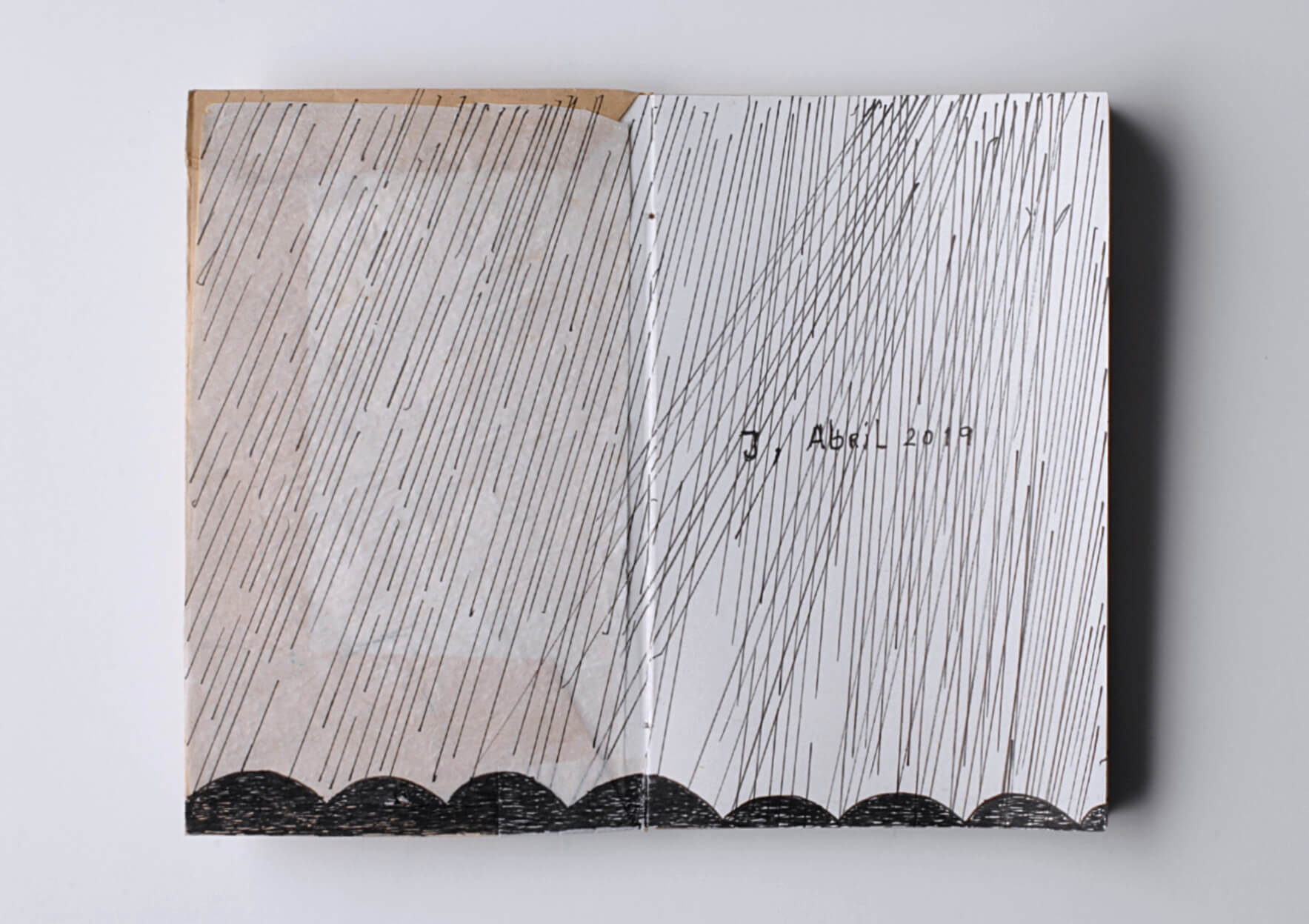 Ana Jotta Fourth, no discovery, 2019 Ink on paper, 9 x 14,5 cm. Unique | Mother | ProjecteSD
