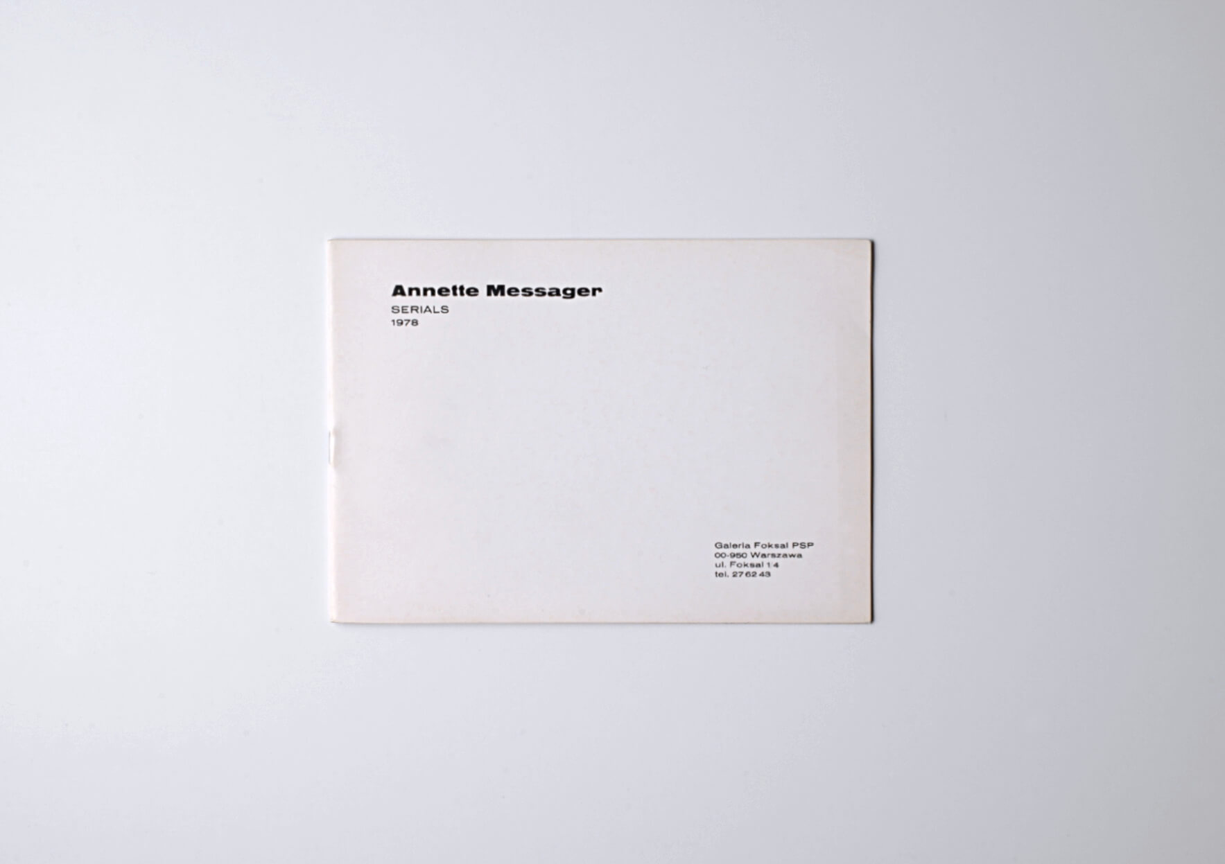 Annette Messager Serials, 1978 15 x 21 cm, 32p. 500 ex. Ed. Galeria Foksal | Mother | ProjecteSD