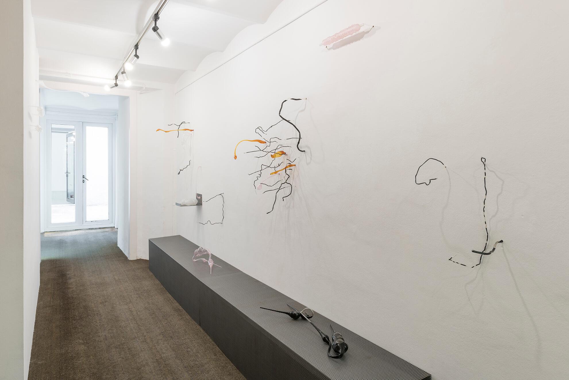 Installation view: Delu, ProjecteSD | Lara Fluxà: Delu / Accrochage #5: Set Petites Històries | ProjecteSD