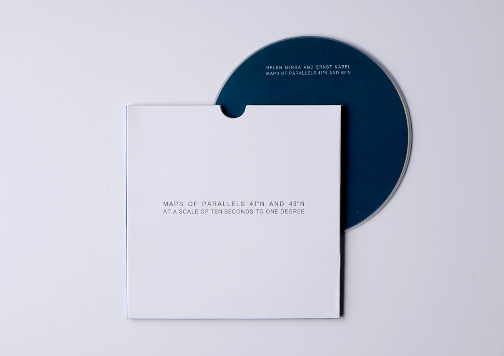 Hellen Mirra & Ernst Karel Maps of Parallels 41 º N and 49º N at a scale of the seconds to one degree, 2014 12,5 x 14 cm, CD audio Ed. Shpuma Records, Lisboa | Mother | ProjecteSD