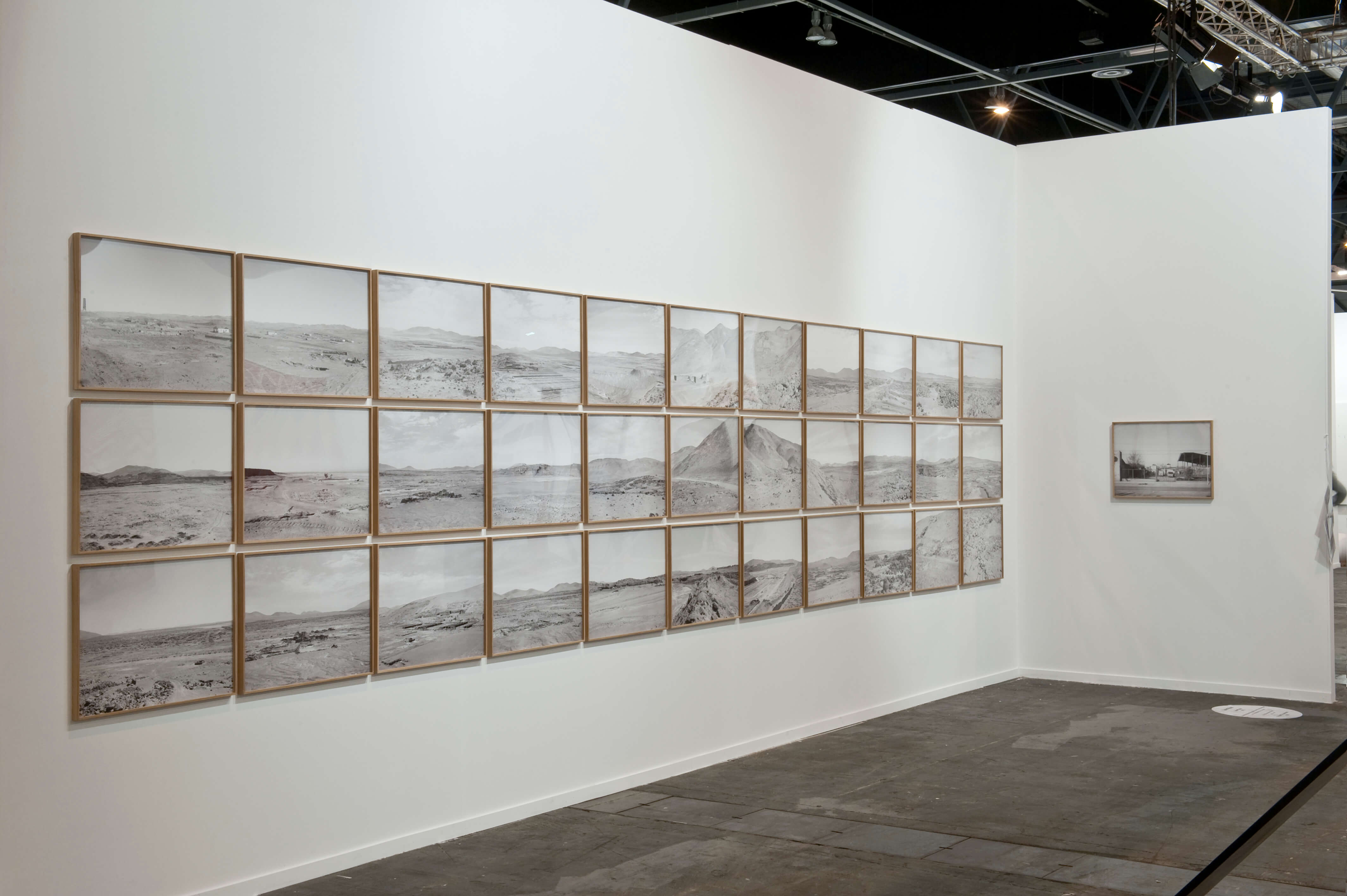 Installation view: ProjecteSD, Solo Objects Booth. Xavier Ribas: Desert Trails. | ARCO 2015 | ProjecteSD