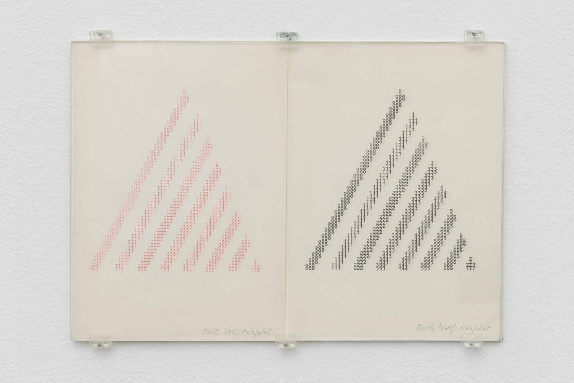 RUTH WOLF-REHFELDT. Untitled (Numbers Pyramid), mid 70's | Borrowed Space and Regular Features | ProjecteSD