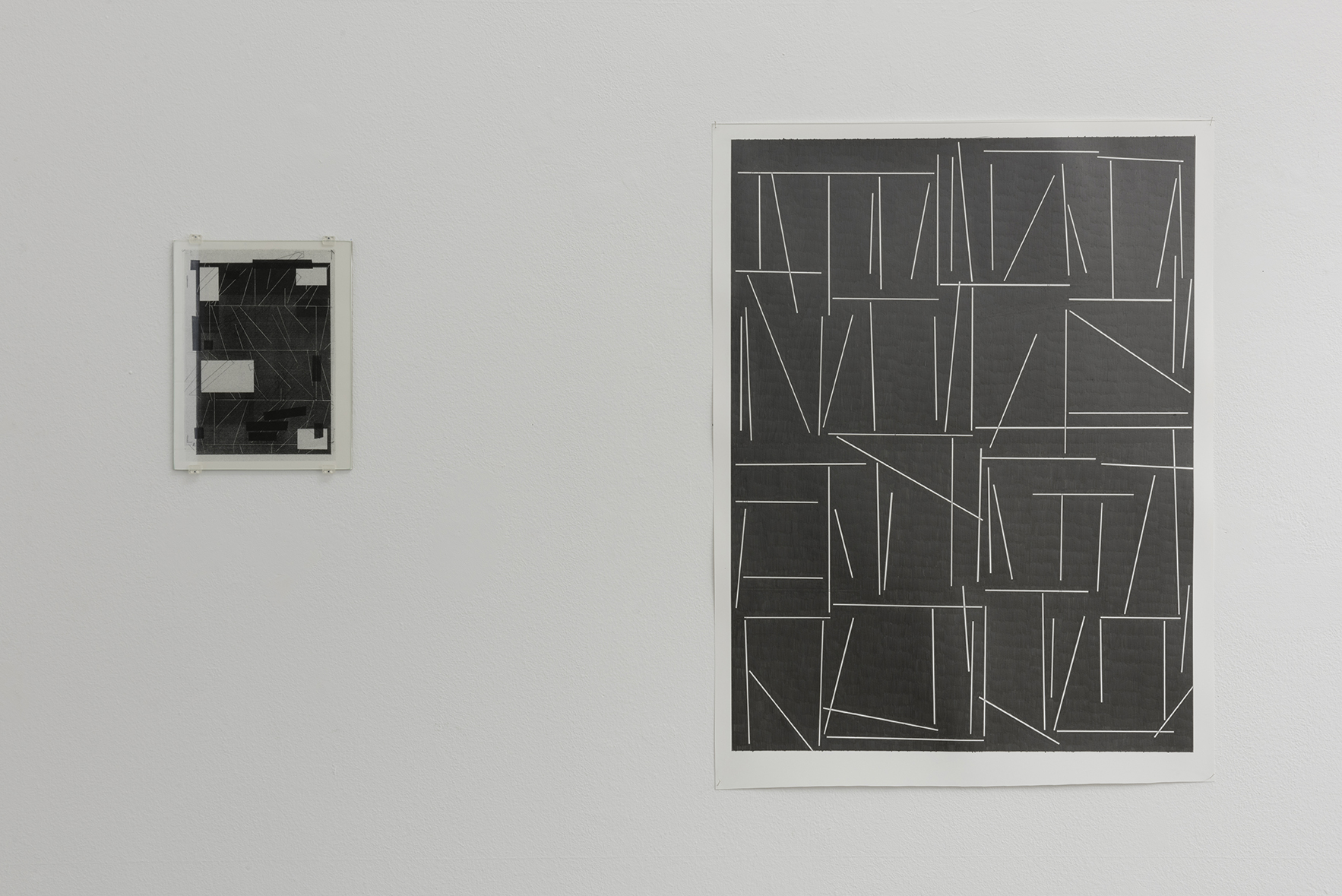 Exhibition view: Marc Nagtzaam and Mark Manders: A Drawing Placed Between Two Objects. ProjecteSD |  | ProjecteSD