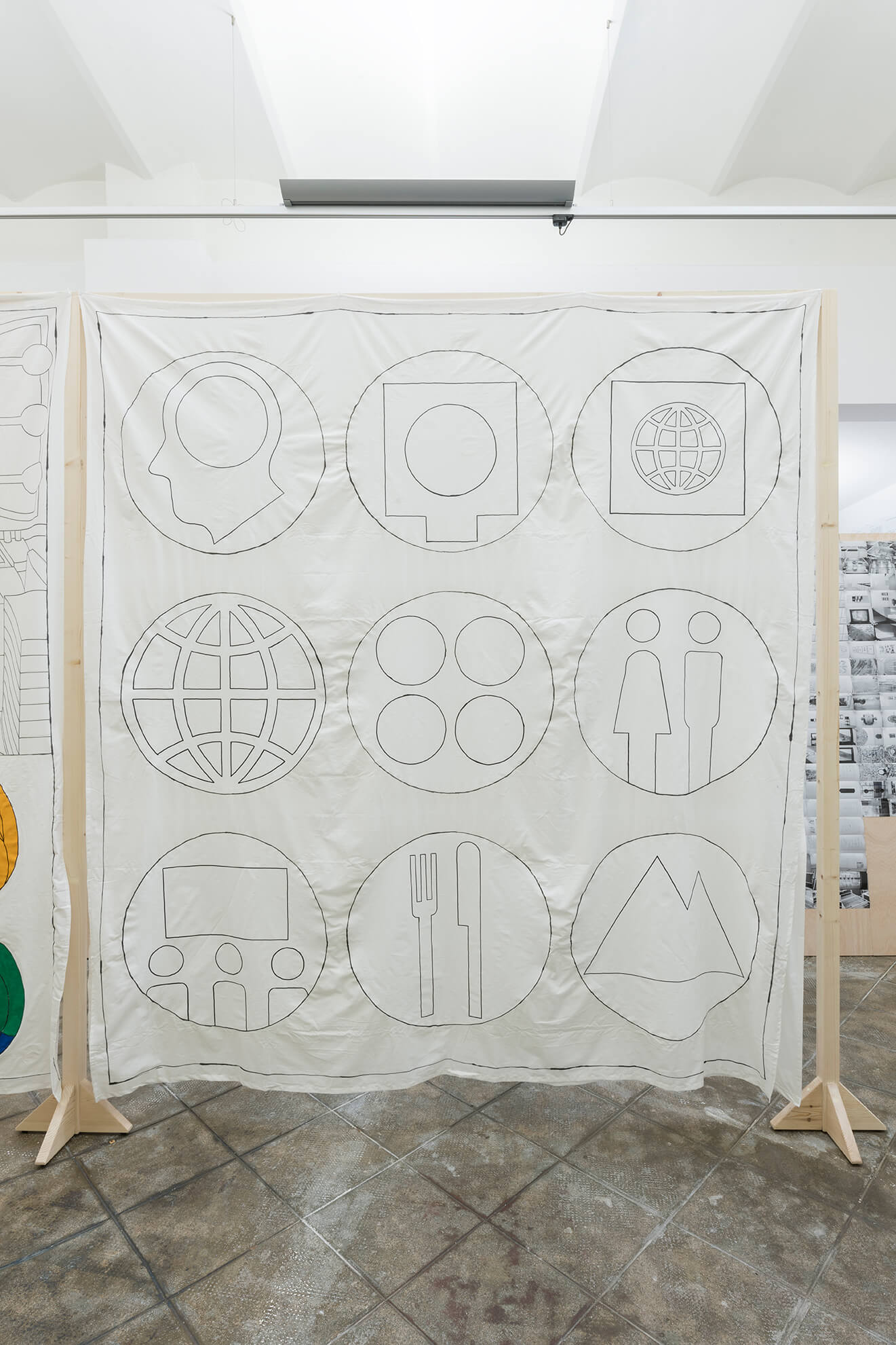 Untitled (Signs from the Magasin banners), 2018 | Representing The Work | ProjecteSD