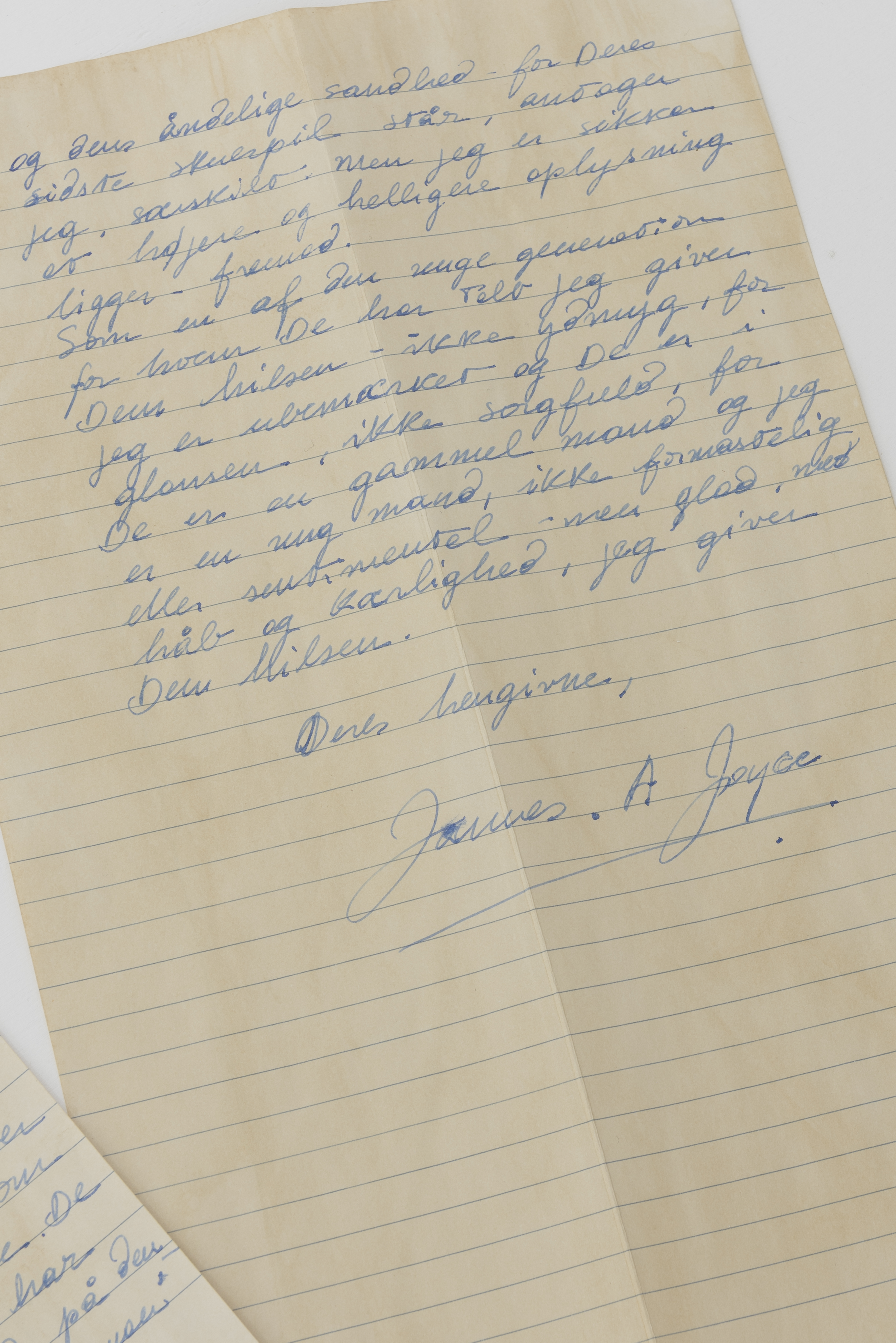 Attempt to Forge a Letter from Joyce to Ibsen in 1901 Nº 12, 2015 (detail)      ProjecteSD