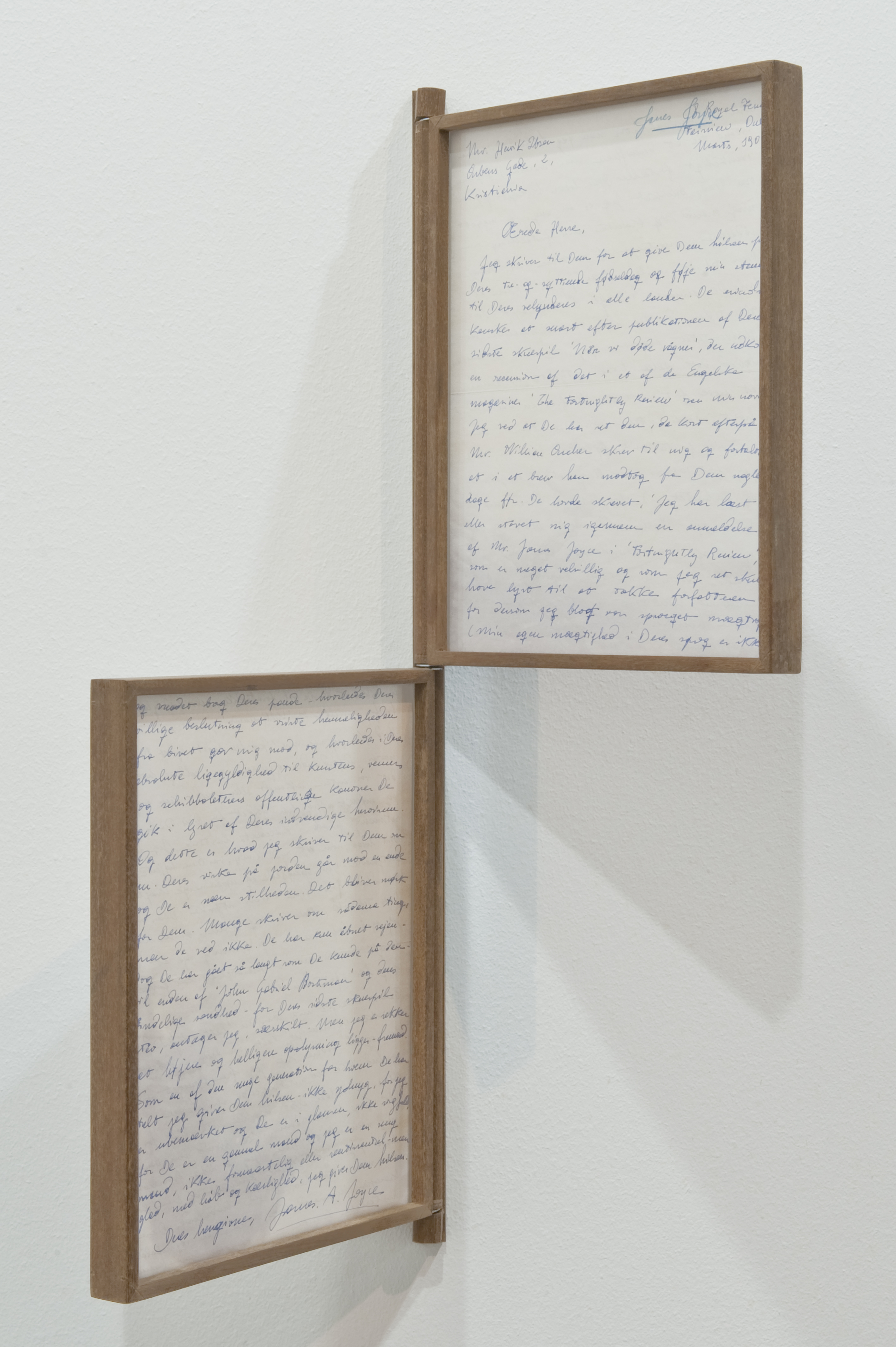 Attempt to Forge a Letter from Joyce to Ibsen in 1901 Nº 11, 2015      ProjecteSD