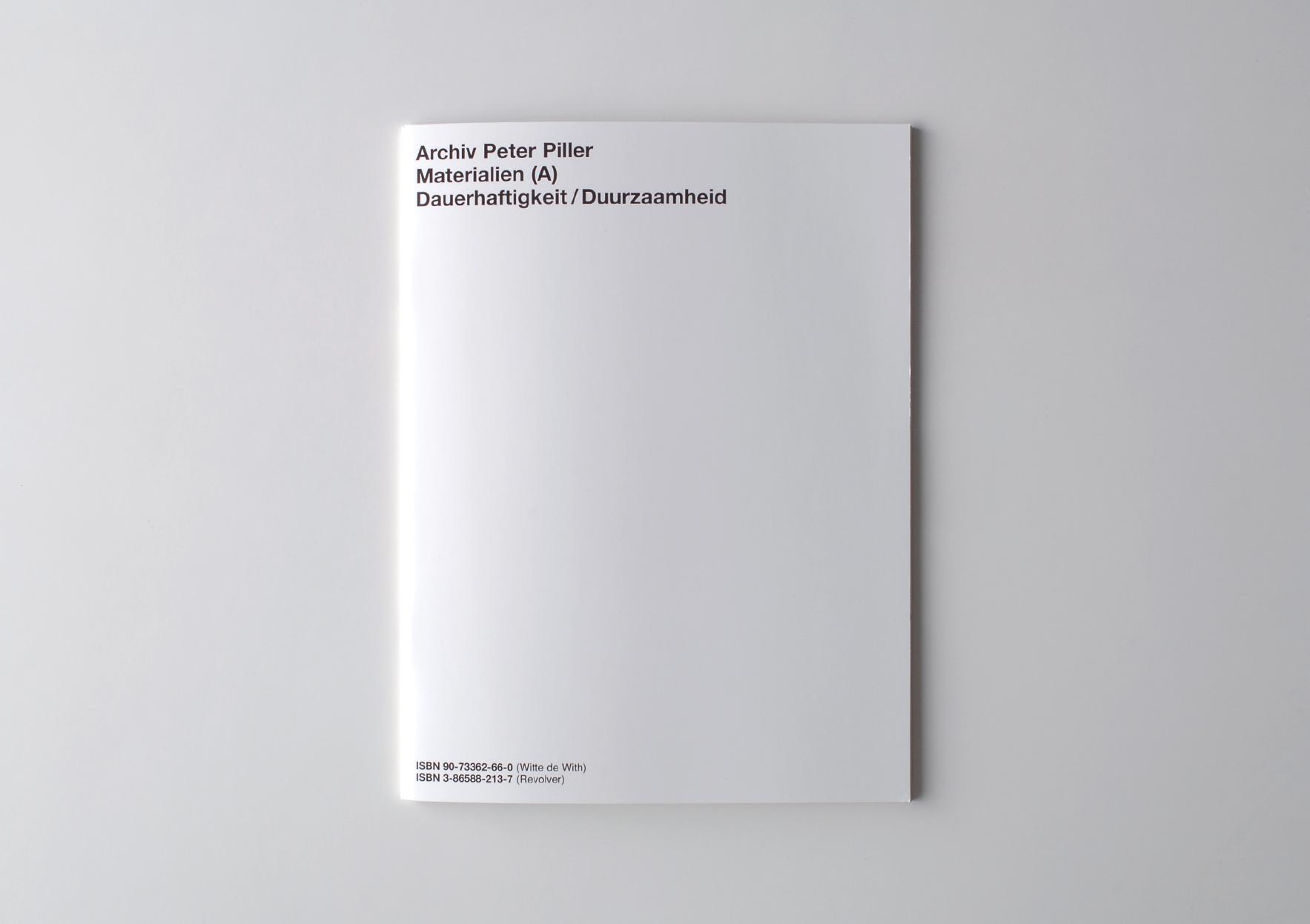 | Archiv Peter Piller: Materialien (A) Dauerhaftigkeit / Duurzaamheid | ProjecteSD