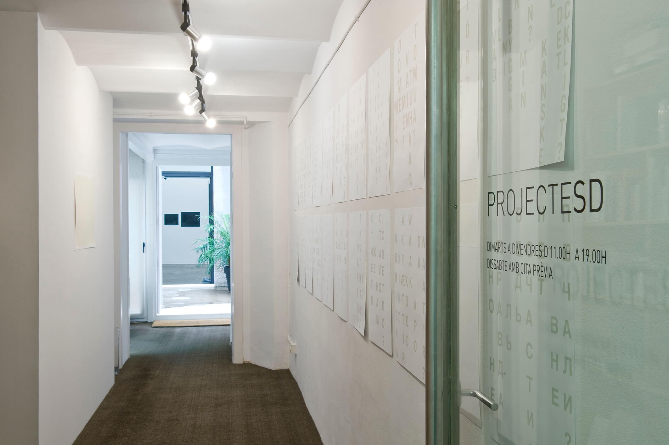 Installation view: La idea del Norte, ProjecteSD, Barcelona, 2014 | La idea del Norte | ProjecteSD
