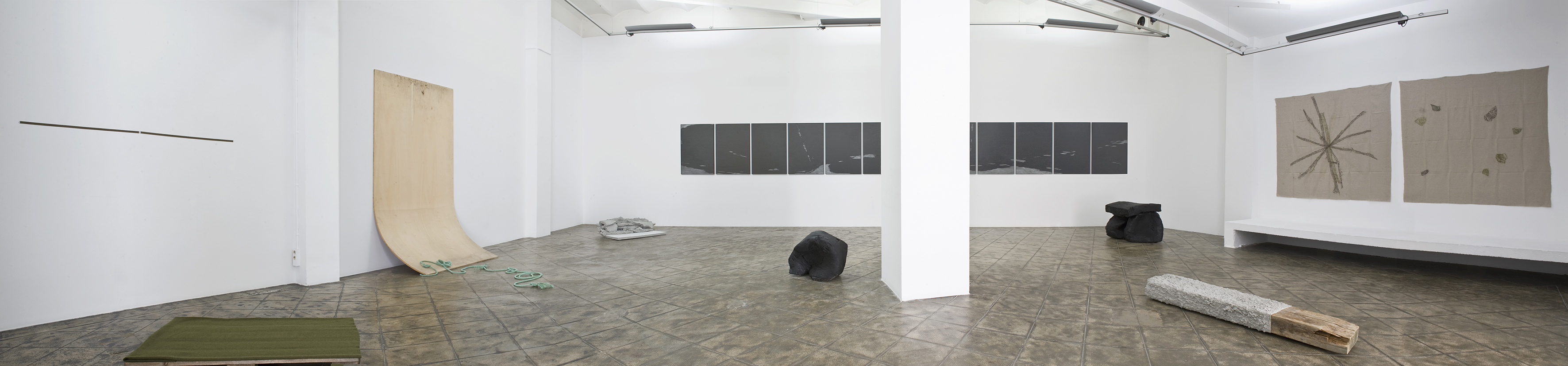 Installation view: Map, Record, Picture, Sculpture, ProjecteSD, Barcelona, 2013.   Map, Record, Picture, Sculpture   ProjecteSD