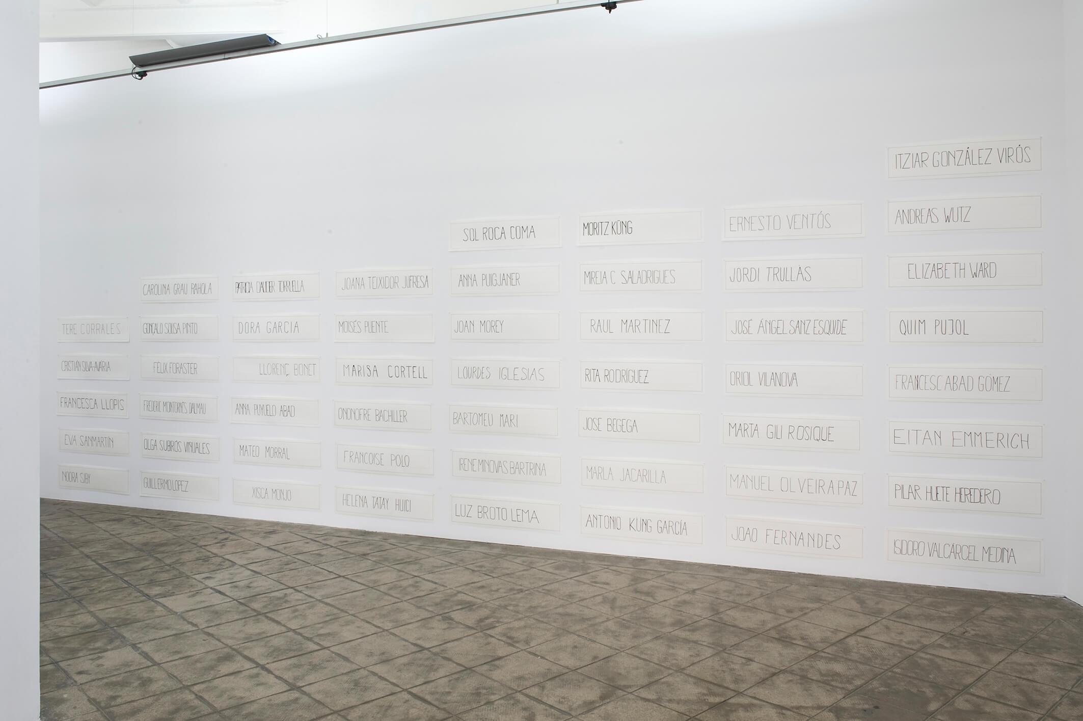 Installation view: Vostè Mateix, ProjecteSD, Barcelona, 2013 | Vostè Mateix | ProjecteSD