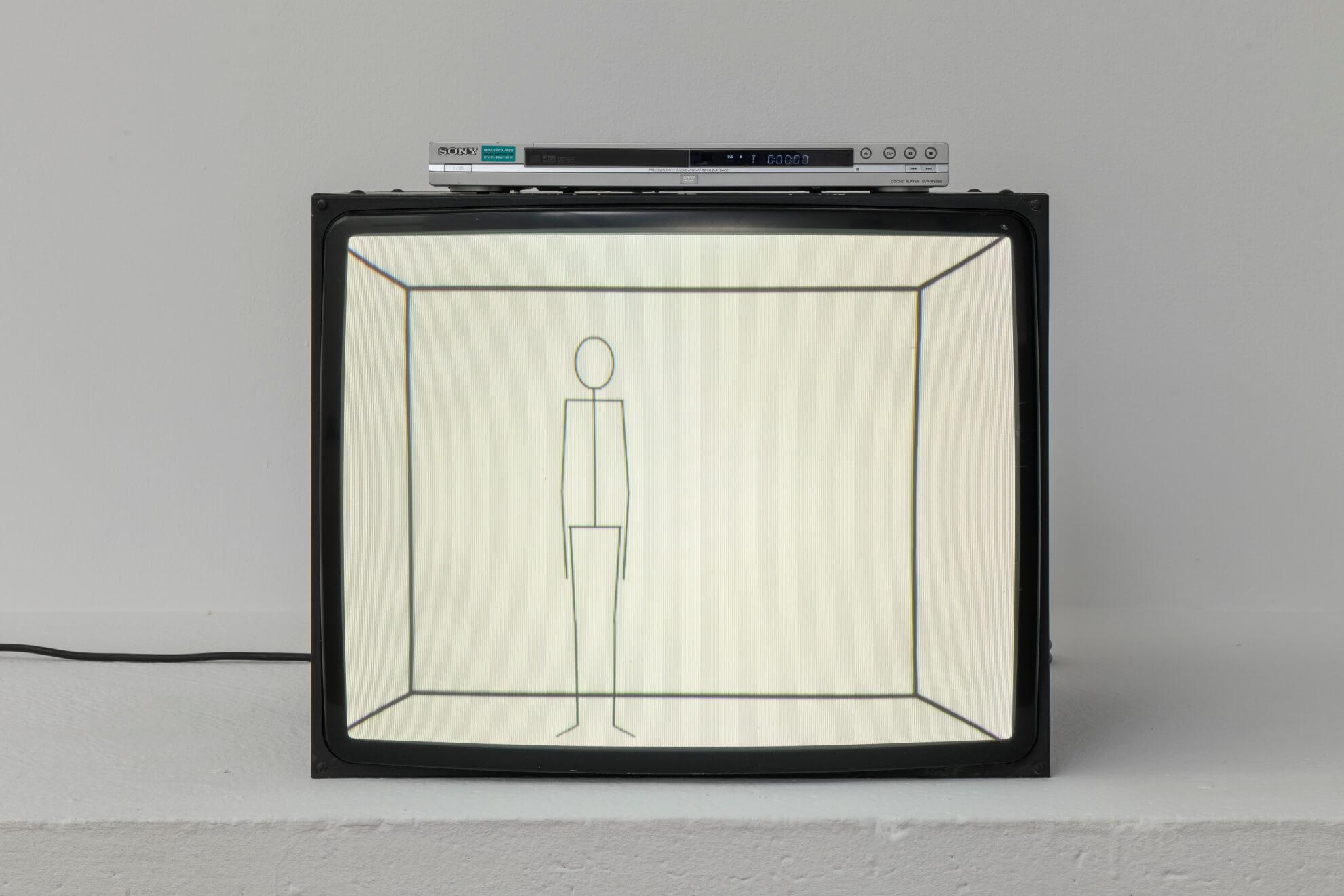 MATT MULLICAN. Untitled (Animated Fictional Details: Dying Stick Figure), 2012 | Lara Fluxà: Delu / Accrochage #5: Set Petites Històries | ProjecteSD