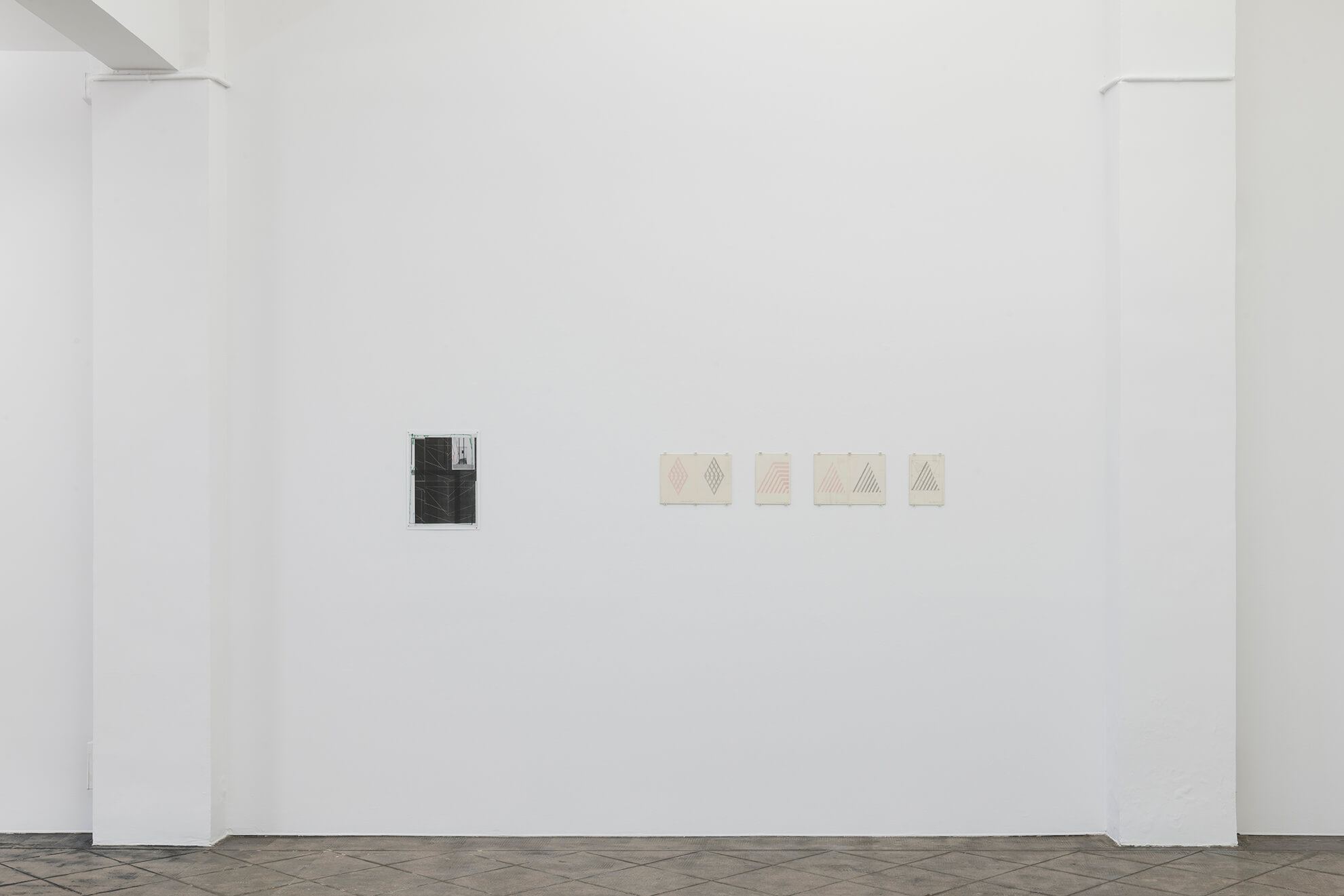 Installation view: Borrowed Spaces and Regular Features, ProjecteSD | Borrowed Space and Regular Features | ProjecteSD