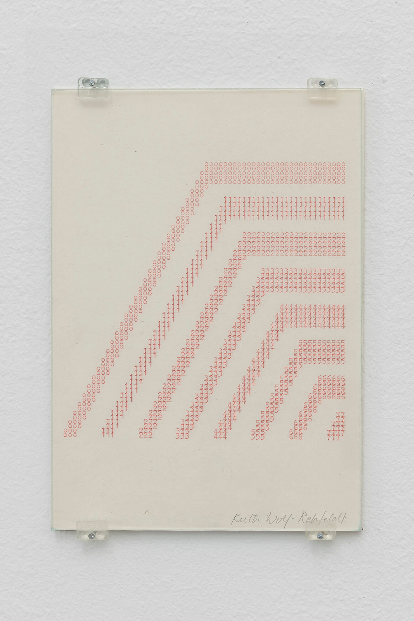 RUTH WOLF-REHFELDT.Untitled (Numbers Pyramid),mid 70's | Borrowed Space and Regular Features | ProjecteSD