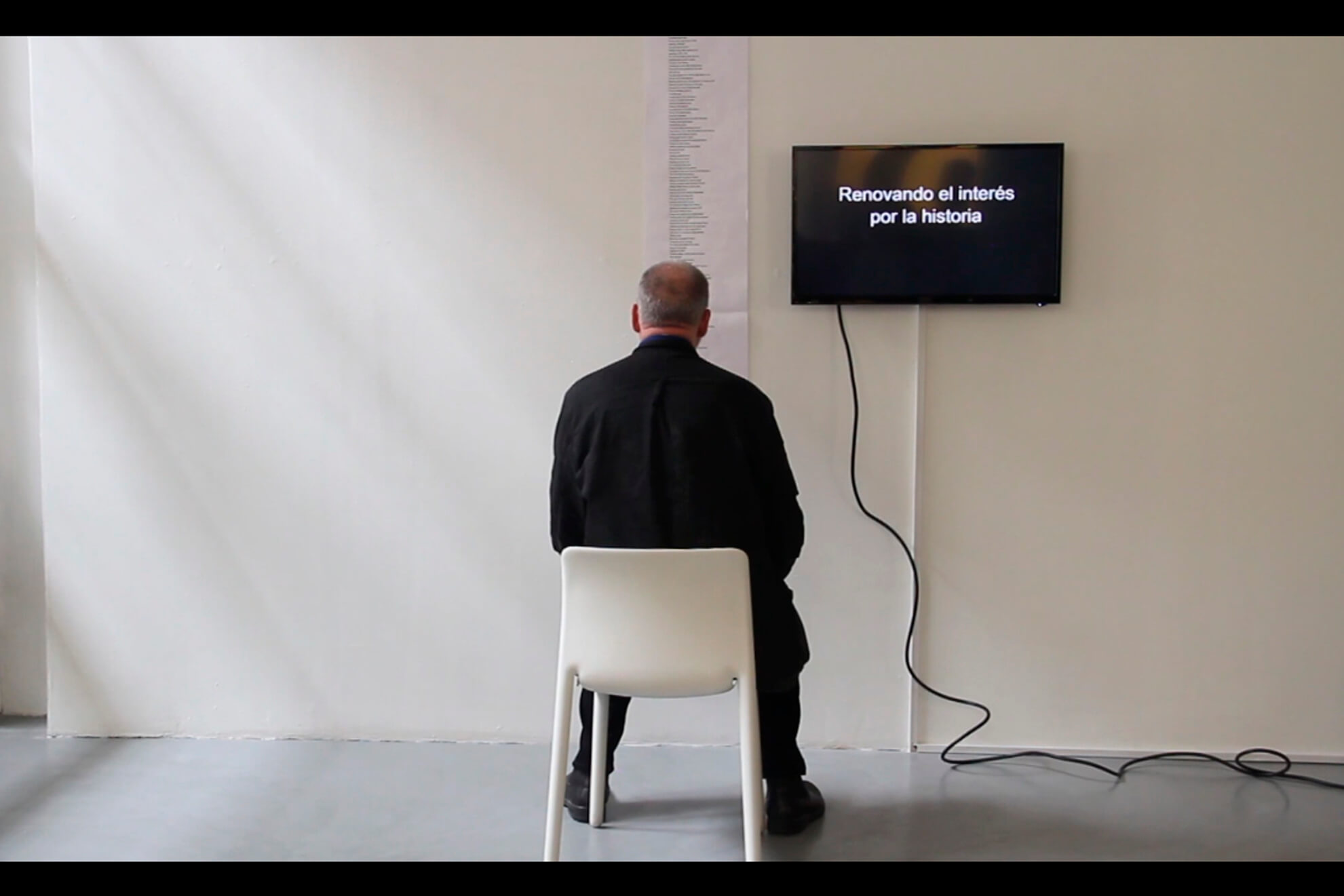 MATT MULLICAN. Video of the reading of: Essex (Detail on an Imaginary Life frim Birth to Death), 1973. (Detail) | Ella té molts noms / Ella tiene muchos nombres / She has many names | ProjecteSD