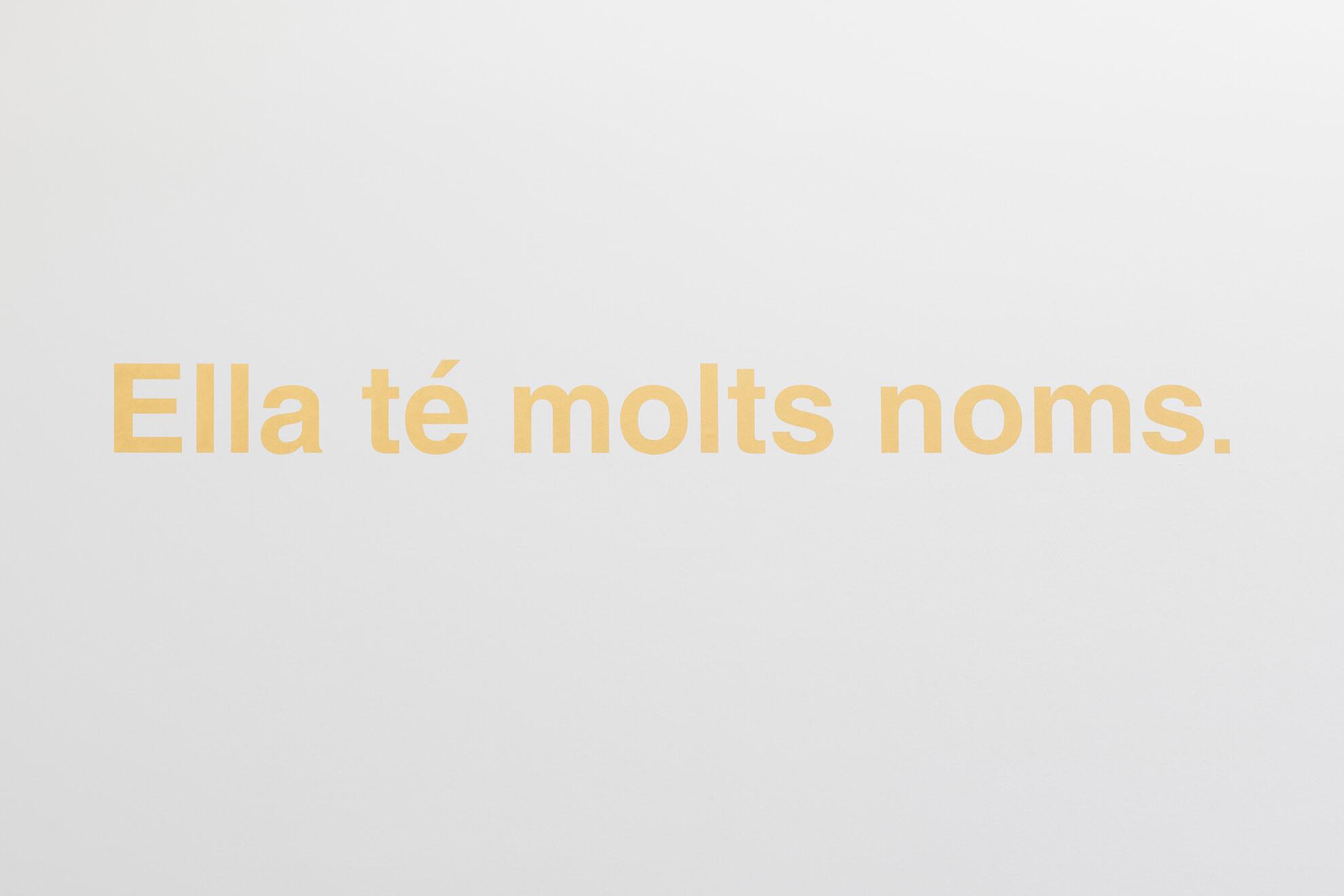 DORA GARCÍA. Golden sentence (She has many names.), 2020 | Ella té molts noms / Ella tiene muchos nombres / She has many names | ProjecteSD