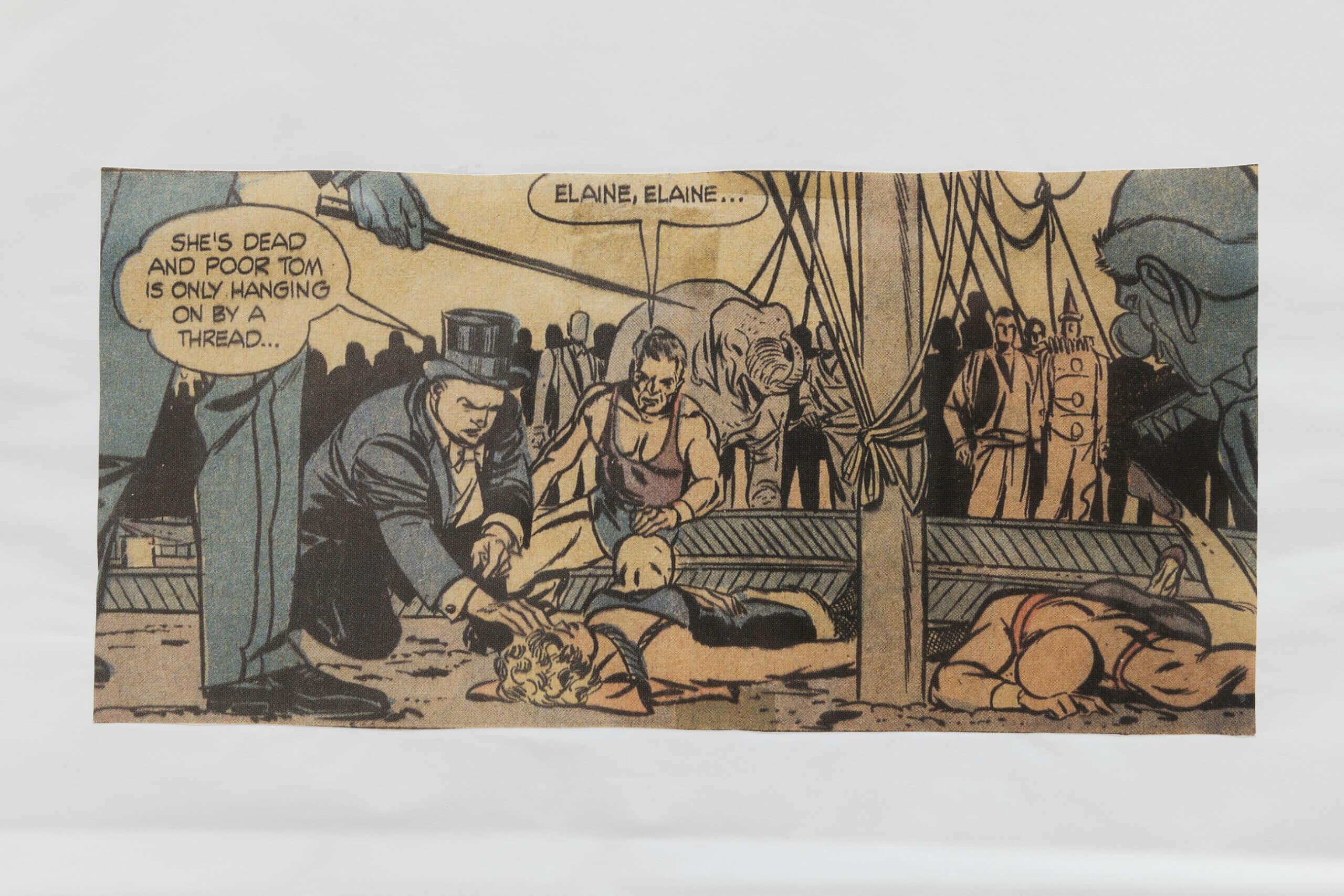 MATT MULLICAN. Untitled (Dead comic book characters. 1973), 2019. (Detail) | E-ARCO EXHIBITIONS. PRESENTATION #2: Figures and Prefigurations | ProjecteSD