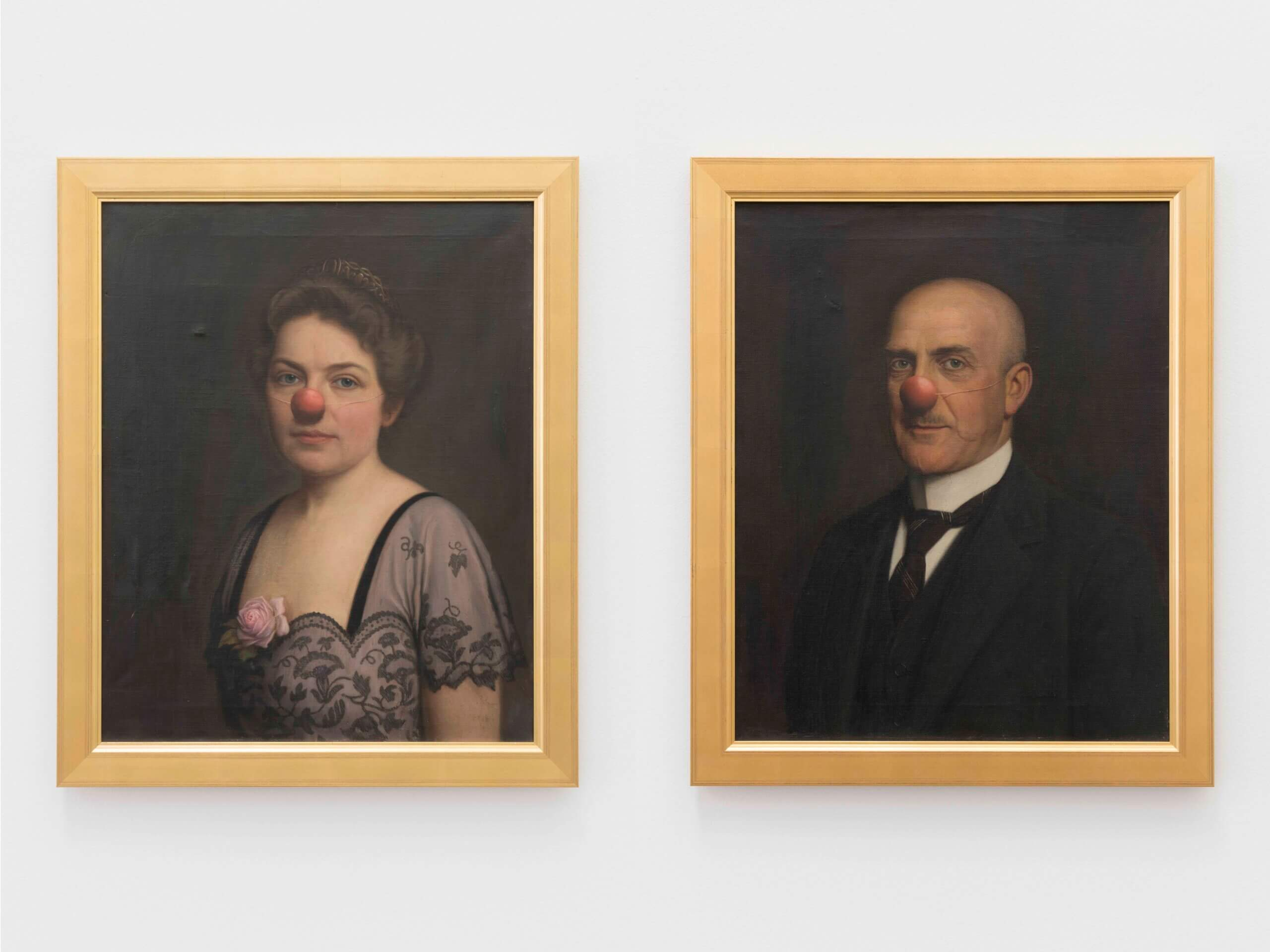 Man and woman with red nose, n.d. | Another Art Exhibition | ProjecteSD